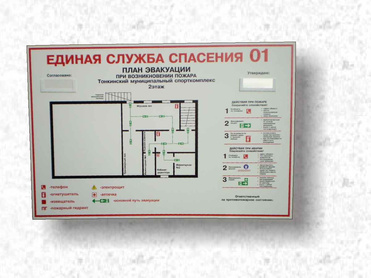 Схема эвакуации из класса